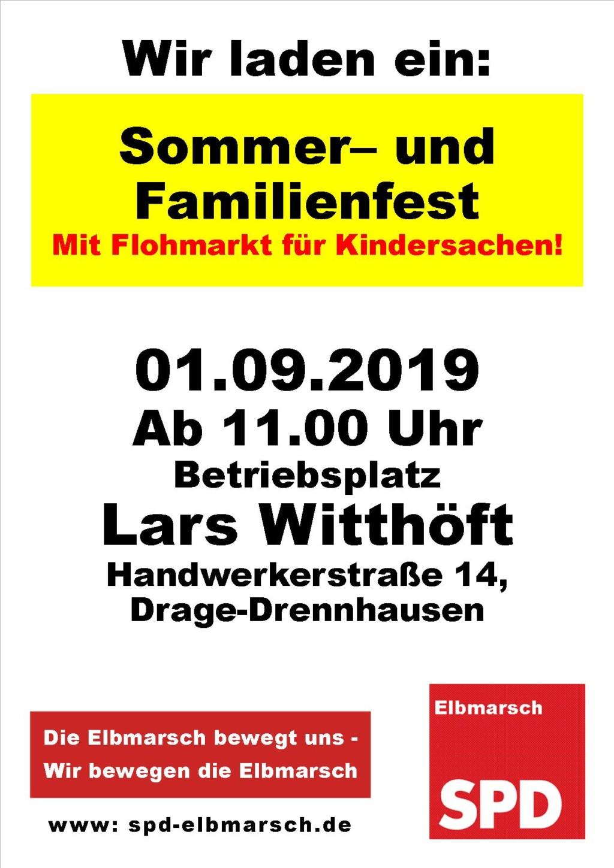 Plakat Sommerfest 2019